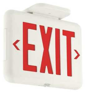 Hubbell Lighting Dual lite Exit Sign Battery Backup Eveurwe