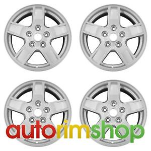 Jeep Grand Cherokee 2005 2007 17 Factory Oem Wheels Rims Set Silver