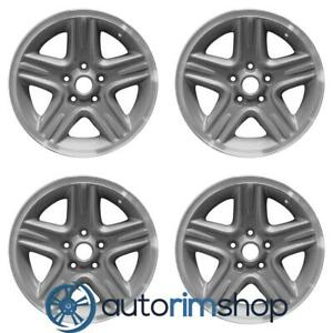 Jeep Liberty 2002 2004 16 Factory Oem Wheels Rims Set Machined With Charcoal