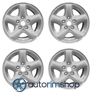 Jeep Cherokee 15 Factory Oem Wheels Rims Set Machined With Silver