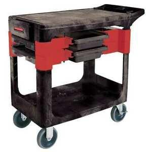 Trade Cart service Bench 38 In L black Rubbermaid Fg618000bla