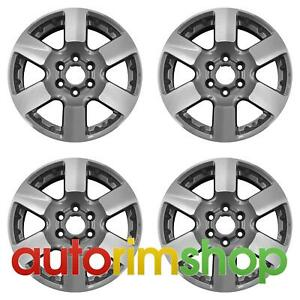 Nissan Frontier 16 Factory Oem Wheels Rims 62463 Machined With Charcoal