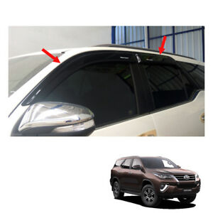 Wind Deflector Weather Guard Big Black Toyota Fortuner Crusade Ppv 2015 2017