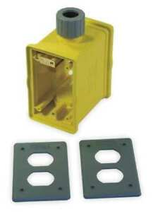 Portable Outlet Box 1gang 33 Cu In Hubbell Wiring Device kellems Hblpob1d