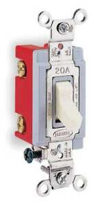 Wall Swtch 1 pol 120 277v 20a ivry toggl Hubbell Wiring Device kellems Hbl1221il