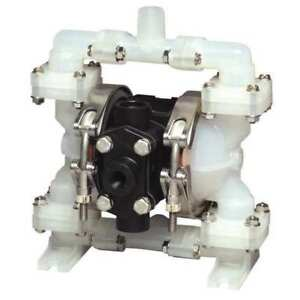Sandpiper 1 4 Air Double Diaphragm Pump 4 Gpm 220f Pb 1 4 tt3pp