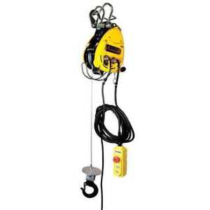 Oz Lifting Products Obh 500 Electric Wire Rope Hoist 500 Lb