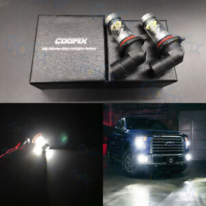 2x 9006 Hb4 100w High Power Led Cree 6000k Super White Fog Light Driving Bulbs