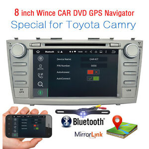 For Toyota Camry 2007 2008 2009 2010 2011 Gps 2 Din Car Radio Dvd Stereo Unit