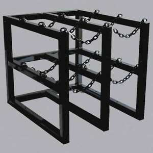 Jt Racking Systems 3d2w Gas Cylinder Rack 30inwx36indx30inh