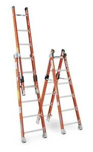 Combination Ladder 8 Ft Iaa Fiberglass Werner 7808