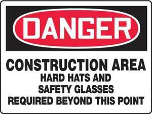 Danger Sign construction Area 24 X 36 In Accuform Mppe240vp