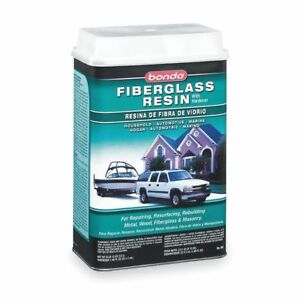 Fiberglass Resin liquid 1gal light Straw Bondo 404