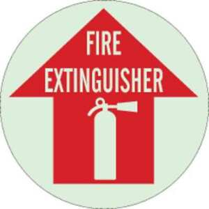 Fire Extinguisher Sign 17 X 17in wht r Brady 49062