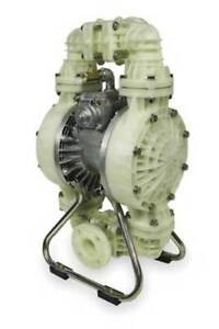 2 Polypropylene Air Double Diaphragm Pump 160 Gpm 180f Dayton 3hjw6