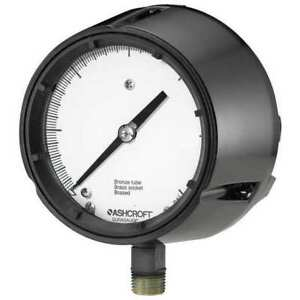 Ashcroft 451259sd4l15 Pressure Gauge 0 To 15 Psi 4 1 2in 1 2in