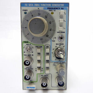 Tektronix Fg 501a 2mhz Function Generation for Parts Only Oscilloscope Signal