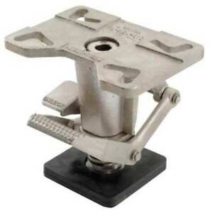 Adjustable Floor Lock top Plate 11 1 2in Vestil Fl adj 810 ss