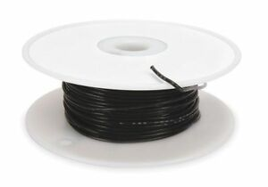 High Temp Lead Wire 22 Ga black Tempco Ldwr 1065