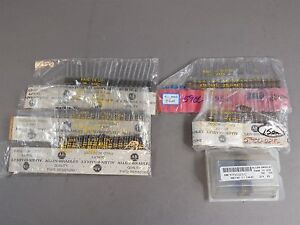 Mixed Lot Of 100 Allen Bradley 2 Watt Carbon Comp Resistors 10000 47000 51