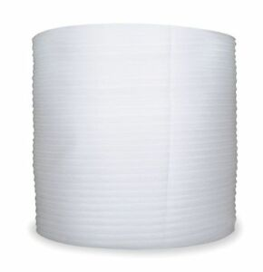 0760 2500334 Foam Roll White 12 In W 600 Ft L