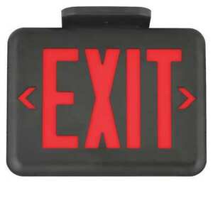Hubbell Lighting Dual lite Exit Sign Eveurb