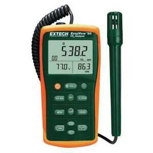 Indoor Air Analyzer 1 To 6000 Ppm Co2 Extech Ea80