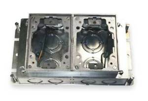 Floor Box steel And Aluminum 2 gang Hubbell Wiring Device kellems Ba2422