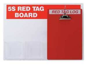Red Tag Station With Clipboard Unfilled Brady 122049