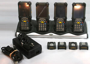 Lot Of 4 Symbol Motorola Mc9090 su0hjafa6wr Wireless Laser Barcode Scanner Pda