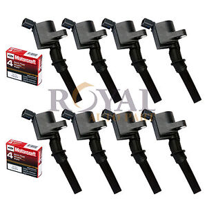 8x Motorcraft Spark Plugs Sp493 8x Ignition Coils For Ford Lincoln Dg508 4 6l