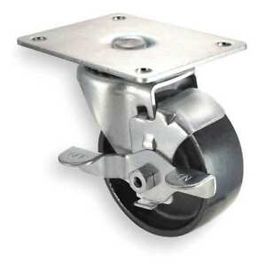 Swivel Plate Caster cast Iron 4 In 450 Lb 1ukx6
