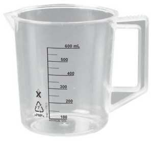 Beaker With Handle 500ml poly pk6 Lab Safety Supply 23x907