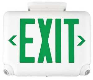 Hubbell Lighting Duallite Exit Sign Emergency Lights