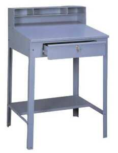 Shop Desk 34 1 2 X 53 X 29in medium Gray Tennsco Sr 57 Med Gray