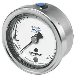 Pressure Gauge 0 To 60 Psi 2 1 2in 1 4in Ashcroft 251009sw02bx6b60