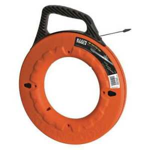 Marked Fish Tape 1 4 In X 100 Ft steel Klein Tools 56006