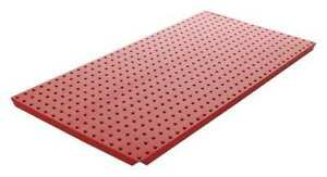 Pegboard 16in hx32in w metal red pk2 Alligatorboard Algbrd16x32red