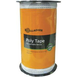 10 Pk Gallagher White 1 2 X 656 Electric Fence 5 Steel Strand Poly Tape G62304