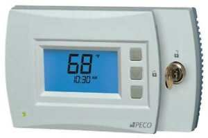 Thermostat 7 Day Programmable Stages 3 Heat 2 Cool Peco T4932sch 002