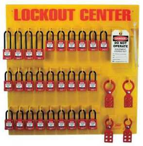 Lockout Station filled 28 Padlocks Zing 7116