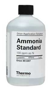 Ammonia Standard 100ppm As N 1 Pint Thermo Scientific 951207