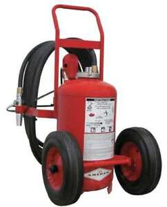 Wheeled Fire Extinguisher 125 Lb Capacity Dry Chemical 452 Amerex