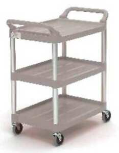 Rubbermaid Fg342488plat Utility Cart 200 Lb Load Cap Plastic