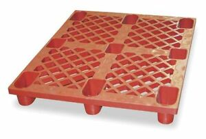 1mct7g Plastic Skid 48 L X 40 In W Red