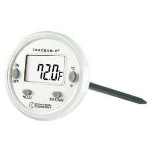Waterproof Thermometer lcd stinlss Steel Control Company 4202