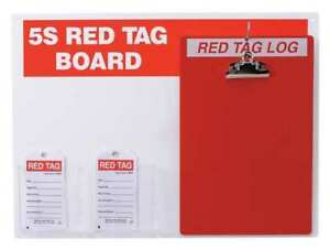 Red Tag Station W clipboard Small Tags Brady 122056