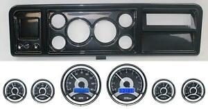 73 79 Ford Truck Carbon Dash Carrier W Dakota Digital 3 3 8 Vhx 1060 Gauges