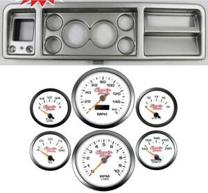 73 79 Ford Truck Silver Dash Carrier W 3 3 8 Concourse Series White Gauges