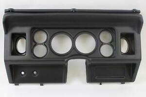 80 86 Ford Trucks Black Dash Carrier Panel For 3 3 8 2 1 16 Gauges